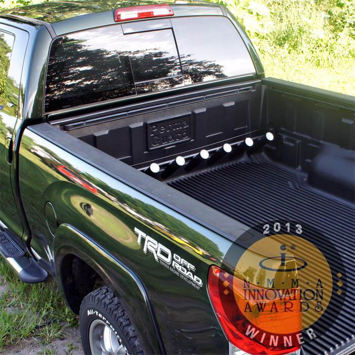 Pick up truck rod holder for toyta tundra trucks for Fishing rod holder for truck