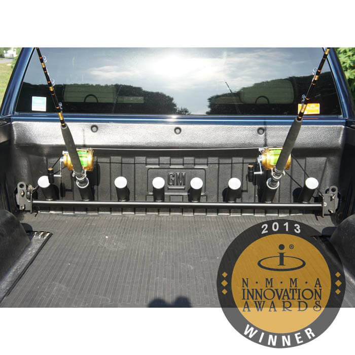 Pick up truck rod holder for chevy and gmc trucks for Truck fishing accessories