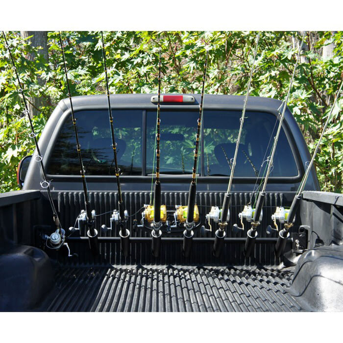 Pick up truck rod holder for f250 and f350 trucks for Truck bed fishing rod holder