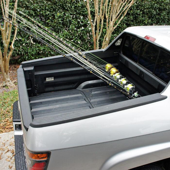 Pick up truck rod holder for honda ridgeline trucks for Fishing pole rack for truck