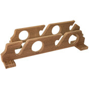 Teak Four Rod Holder