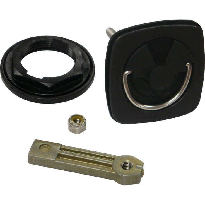 Surface Mount Cam Latch With Extra Long Grip Range