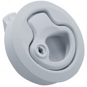White Locking Flush Boat Latch
