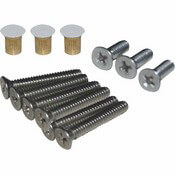 Boat Sliding Door Hardware Kit with White Flush Nuts
