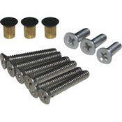 Boat Sliding Door Hardware Kit with Black Flush Nuts
