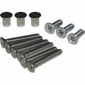 Boat Sliding Door Hardware Kit with Chrome Flush Nuts