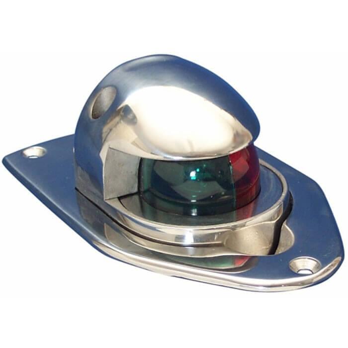 Deck Boat Navigation Lights: Stainless Steel Pop-Up Combo Bow Light