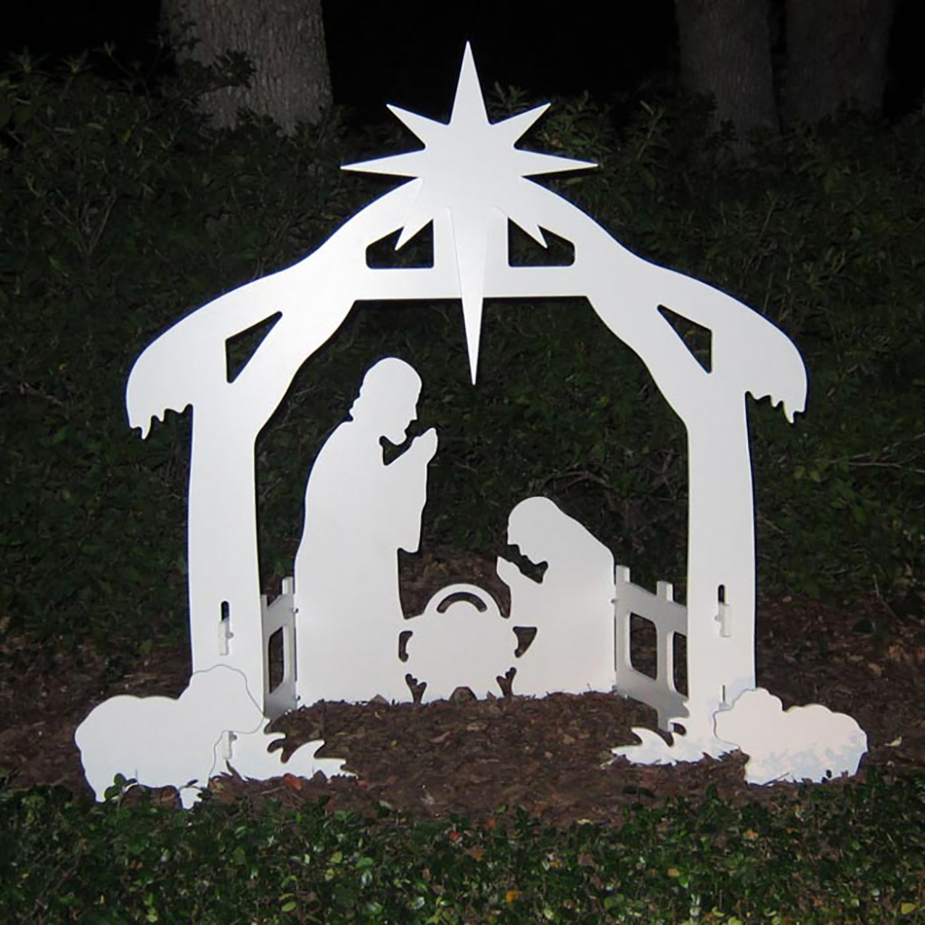 Outdoor Nativity Set | Plastic Outdoor Nativity Set