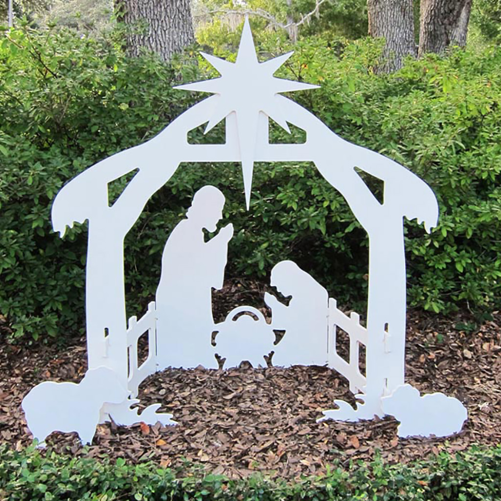 outdoor nativity set plans