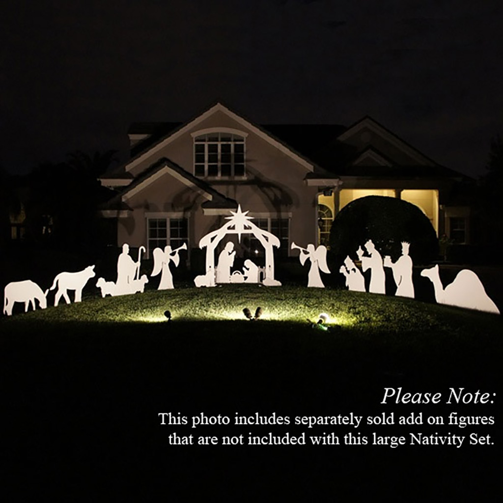 Outdoor nativity set at night pictures to pin on pinterest