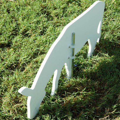 Donkey Figure is Held Securly with Brackets and Stake