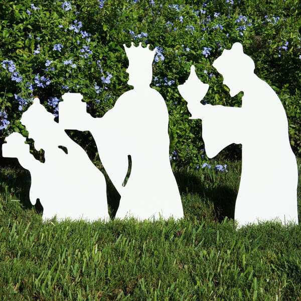 Three wise men nativity figures for Outdoor christmas figures