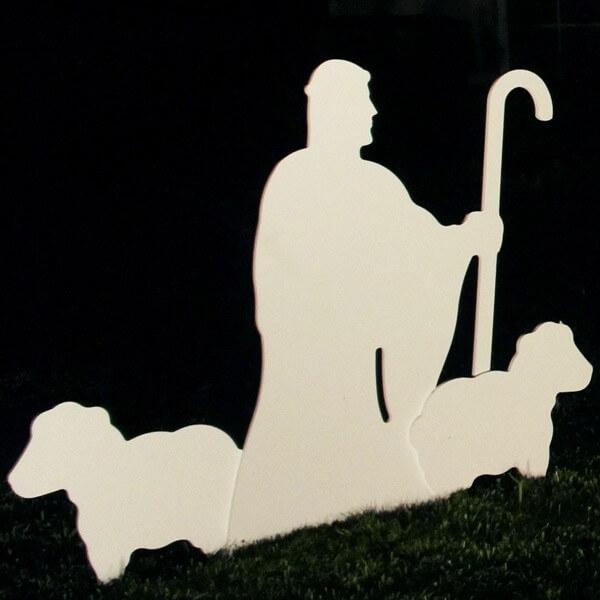 Nativity shepherd silhouette large nativity shepherd with