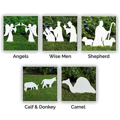 Nativity Figures Full Add-On Set Christmas, Nativity Sets, Outdoor Nativity Sets, Outdoor Nativity Scene, Nativity,  Calf, Camel, Angels, Wise Men, Donkey Shepherd