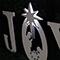 Lit Nativity Star Angled View Joy Nativity