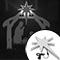 Lit LED Nativity Star