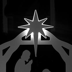 Holy Night Nativity Lit Star Set
