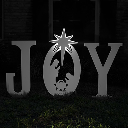 Joy Nativity Lit Star Set