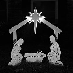 Holy Family Nativity Lit Star Set - 202632-30064