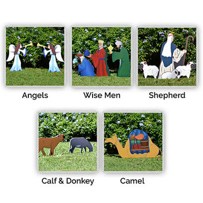 Printed Nativity Figures Full Add-On Set
