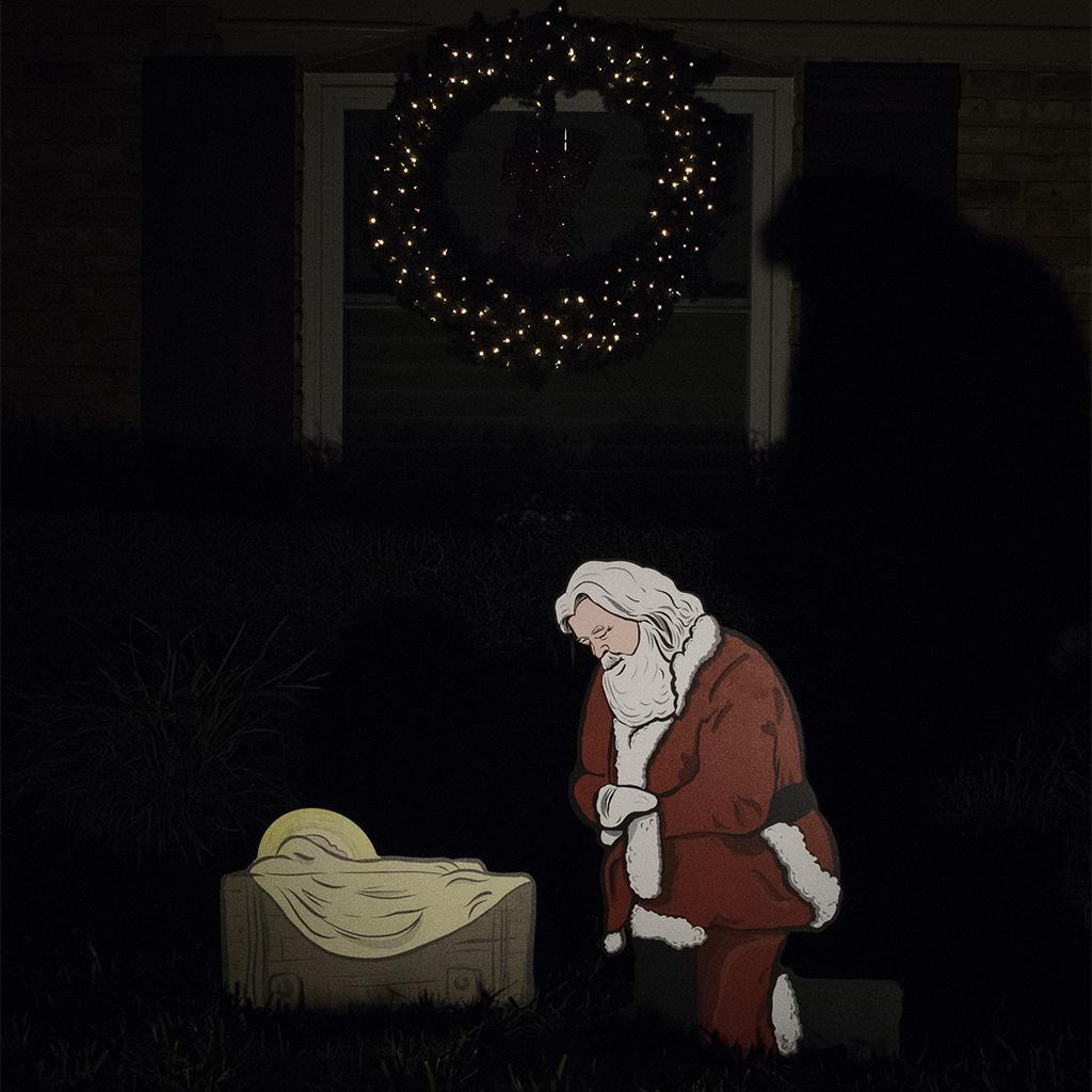 Kneeling Santa Outdoor Nativity Set 202632 30084