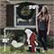 Kneeling Santa Outdoor Nativity Set - Size Comparison