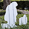 Kneeling Santa Outdoor Nativity Set - Back View