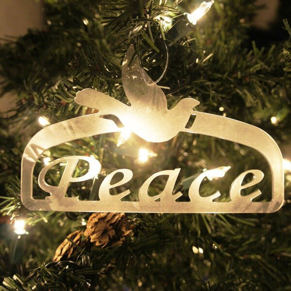 christmas peace ornament
