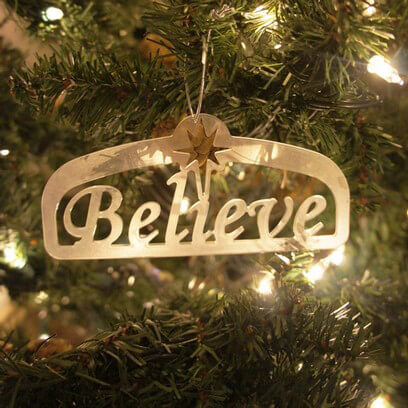 Christmas Believe Ornament