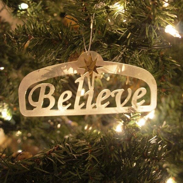 Christmas Believe Ornament
