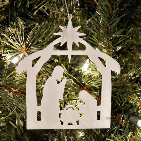 free nativity ornament with purchase