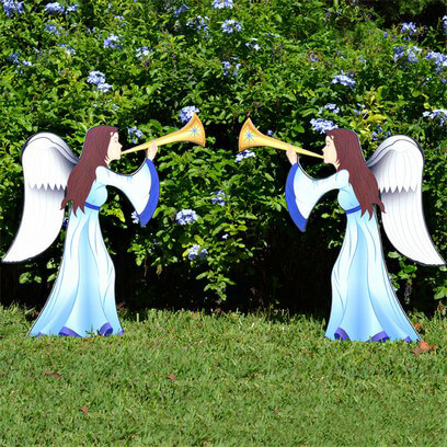 Printed Nativity Angel 2 Piece Set