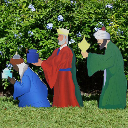 Printed Three Wise Men Nativity Figures
