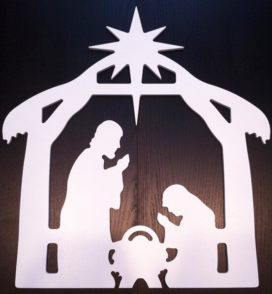 "Outdoor Christmas Decorations Clipart: Search Results For ""Christmas Nativity Scene Silhouette"