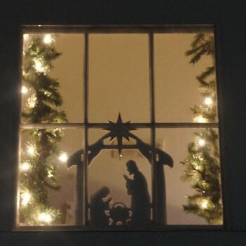 nativity scene windowwall decoration