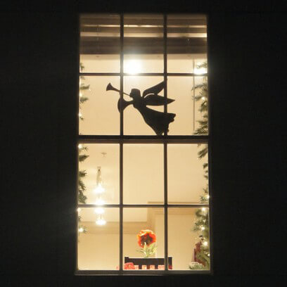 Flying Angel Window Figure