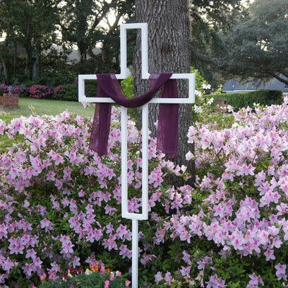 "Easter Yard Cross 41"" x 27"""