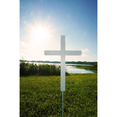 "Easter Yard Cross 24"" x 16"""