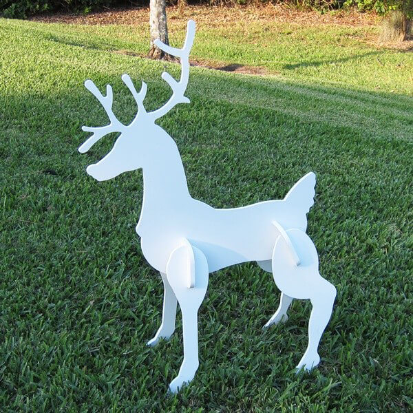 christmas reindeer decoration 2 included - Christmas Deer Yard Decorations