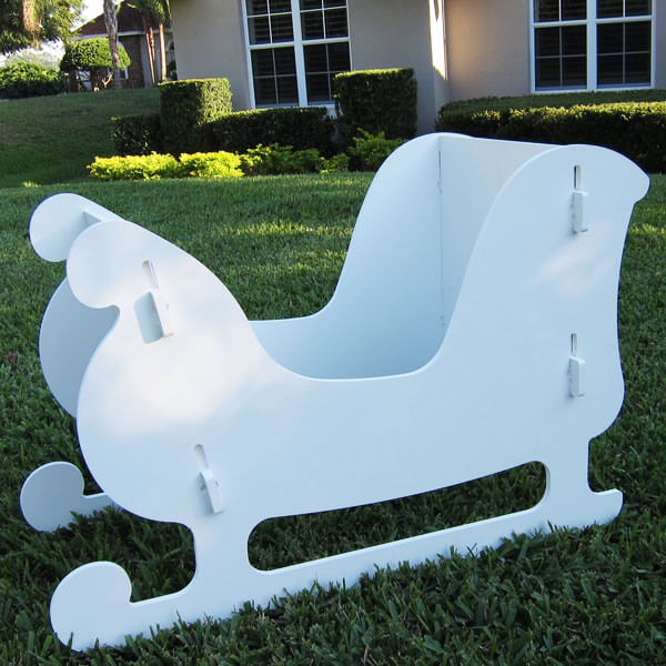 christmas sleigh decoration - Decorative Christmas Sleigh Large