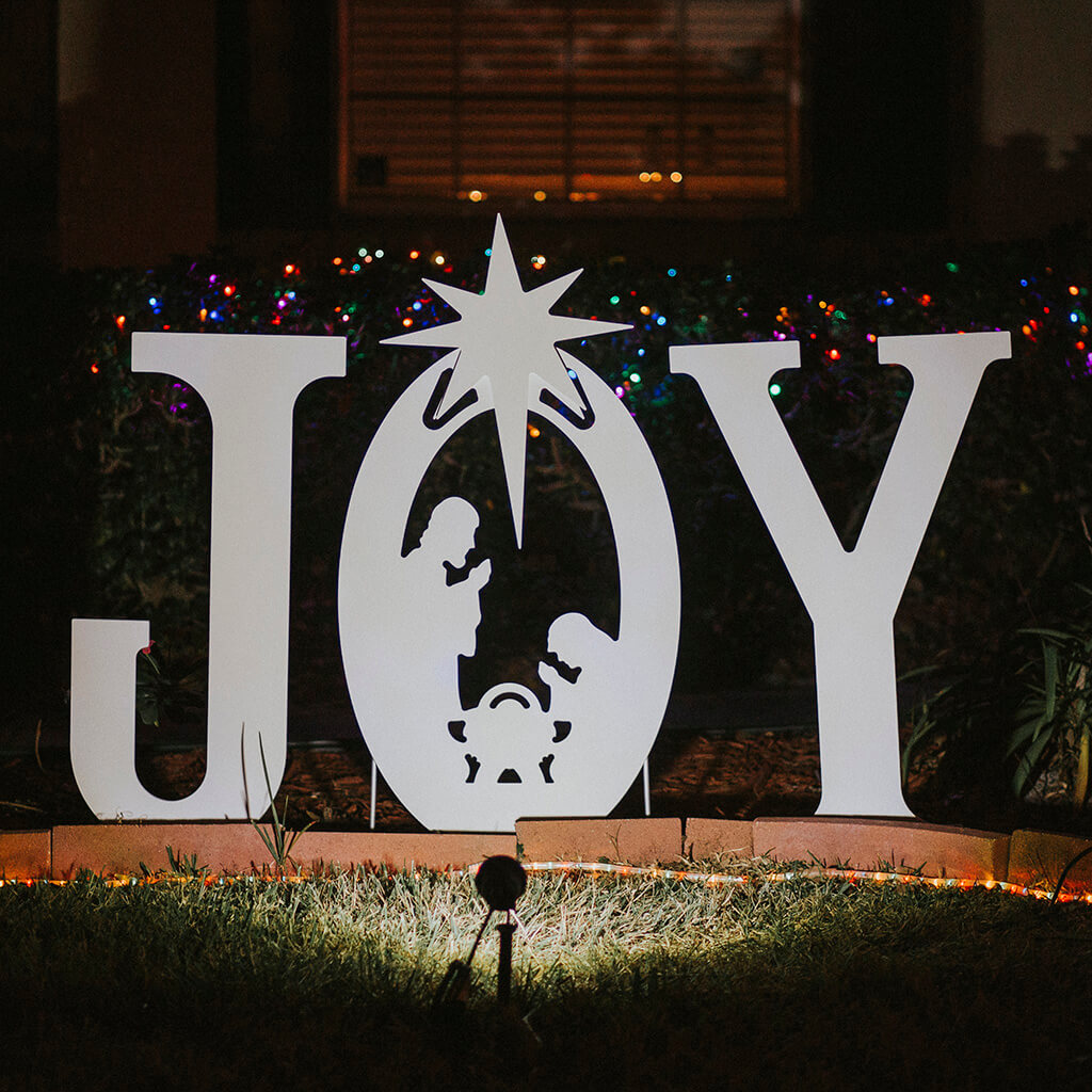 Joy Nativity Yard Sign | Christmas Yard Art