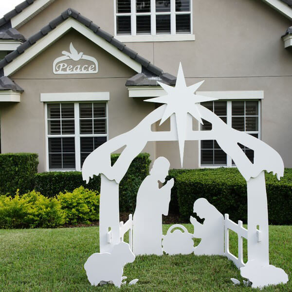 Christmas peace sign for Large outdoor christmas signs