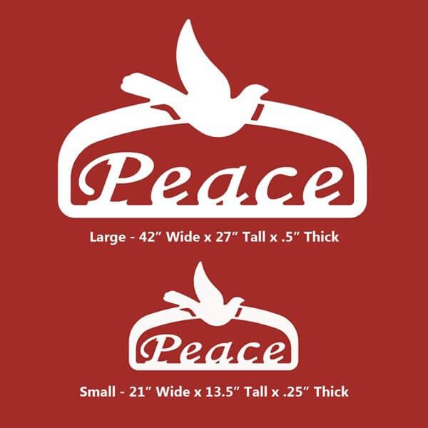 Peace Christmas Sign.Christmas Peace Sign
