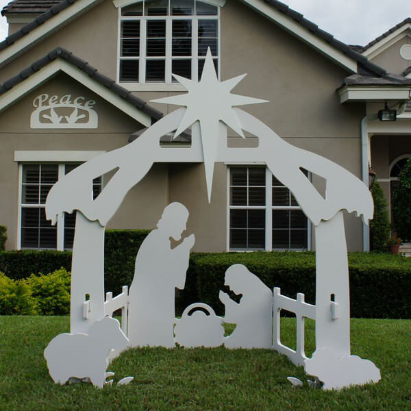 Christmas Outdoor Peace Sign Decoration