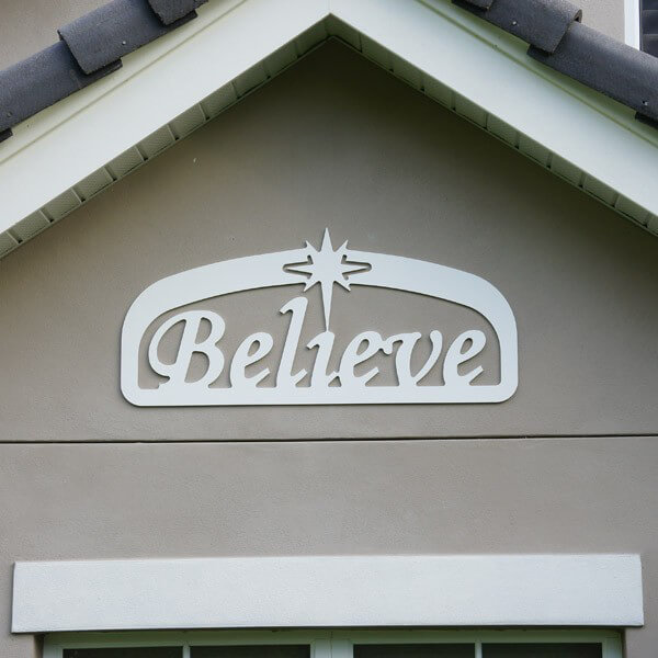 Christmas believe sign for Large outdoor christmas signs