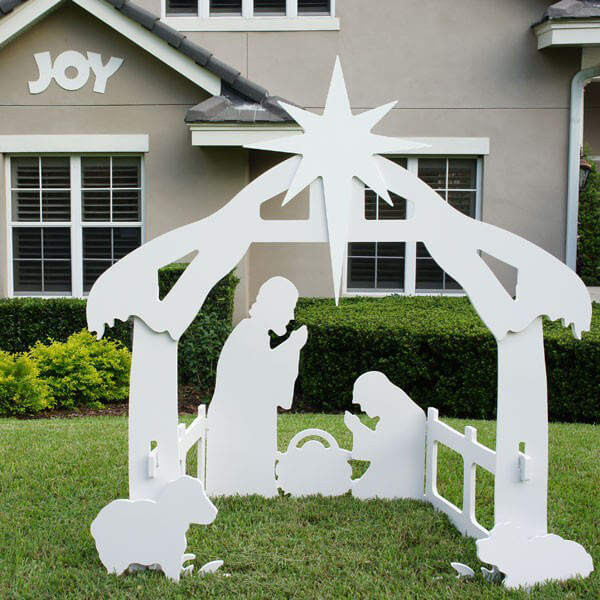 Christmas outdoor joy sign decoration for Christmas outdoor decoration patterns