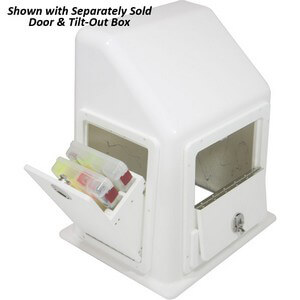 Rough Water Center Console with Door & Tilt Out Box