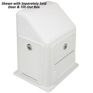 Rough Water Center Console with Door & Tilt Out Box - Closed