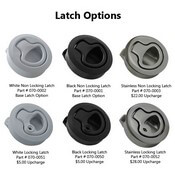 Latch Options for your Custom Boat Door