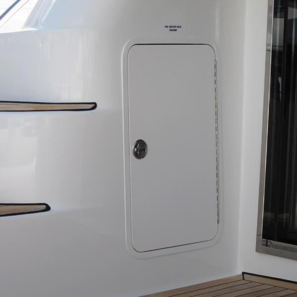 Aluminum Access Doors : Teak isle aluminum framed boat access door f